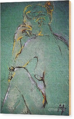 Nude IIi  Wood Print