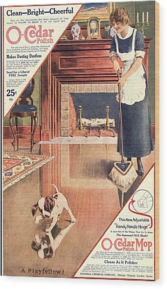 O-cedar 1910s Usa Polish Dusting Wood Print by The Advertising Archives