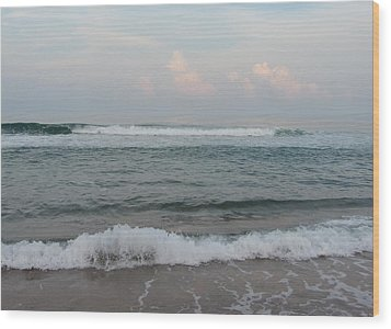 Wood Print featuring the photograph Ocean At Buxton Nc 2 by Cathy Lindsey