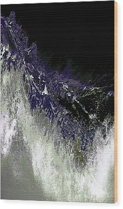 Ocean Series 35 Wood Print by Franco Timitilli