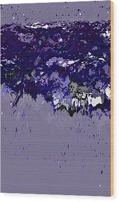 Ocean Series 9 Wood Print by Franco Timitilli