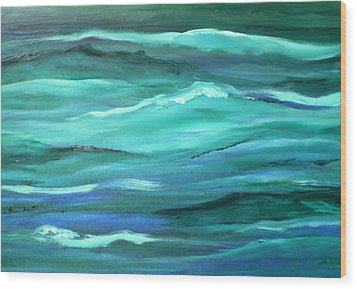 Ocean Swell Abstract Painting By V.kelly Wood Print