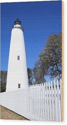 Ocracoke Lighthouse North Carolina Wood Print by Mountains to the Sea Photo