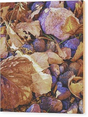 Odds 'n Ends Wood Print by Nancy Marie Ricketts