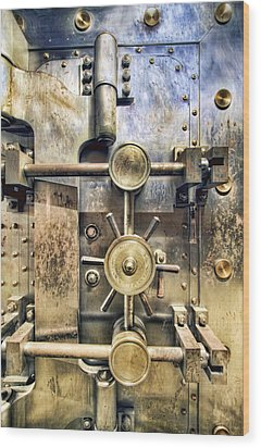 Old Bank Vault In Historic Building Wood Print