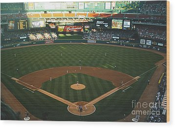 Wood Print featuring the photograph Old Busch Field by Kelly Awad