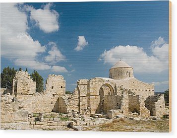 Wood Print featuring the photograph Old Church Anogyra  by Jeremy Voisey