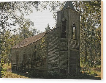 Old Church Wood Print by Ronald Olivier