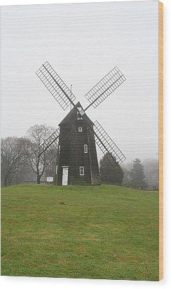 Old Hook Mill Wood Print