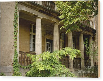 Wood Print featuring the photograph Old Hospital In Berlin Buch by Art Photography