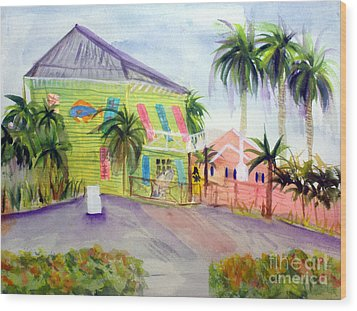 Old Key Lime House Wood Print by Donna Walsh