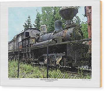 Wood Print featuring the photograph Old Train  by Kenneth De Tore