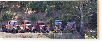 Oldtimers Rendezvous Wood Print by Lynn Bauer