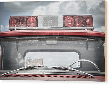 Ole Time Fire Truck Series Wood Print by Kelly Kitchens