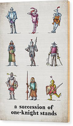 One Knight Stands Wood Print by Mark Armstrong