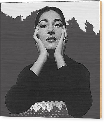 Opera Singer Maria Callas  Cecil Beaton Photo No Date-2010 Wood Print by David Lee Guss