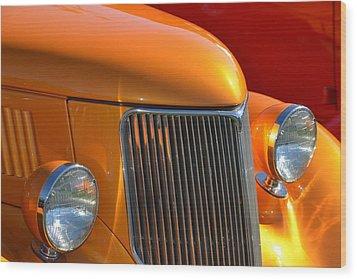 Orange Hotrod Wood Print