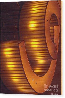 Wood Print featuring the photograph Orange Swirl 9 by Lyric Lucas