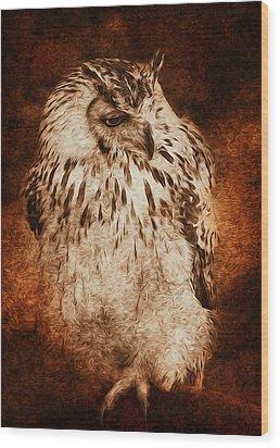 Owl Wood Print by Svetlana Sewell