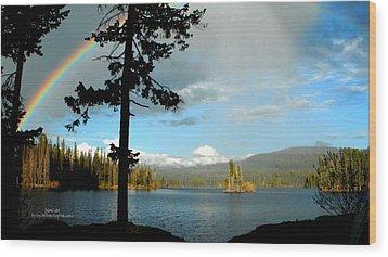 Wood Print featuring the photograph Oyama Lake - Kayaking by Guy Hoffman
