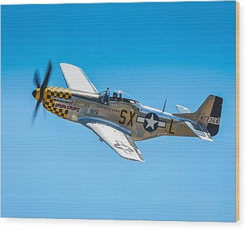 P-51 Mustang Wood Print by Puget  Exposure