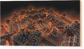 Pandemonium Wood Print by Bernard MICHEL