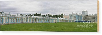 Panorama Catherine Park Castle Wood Print by Art Photography