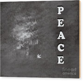 Peace Wood Print by Trilby Cole