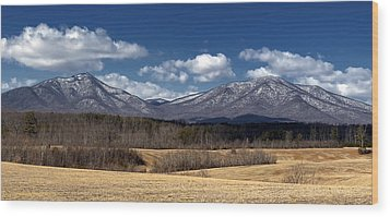 Peaks Of Otter Mountains Wood Print by Steve Hurt