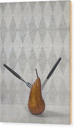 Pear Wood Print by Joana Kruse