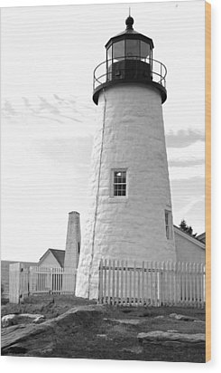 Pemaquid Light Wood Print