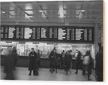 Wood Print featuring the photograph Penn Station by Steven Macanka