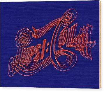 Pepsi Cola Wood Print by Susan Candelario