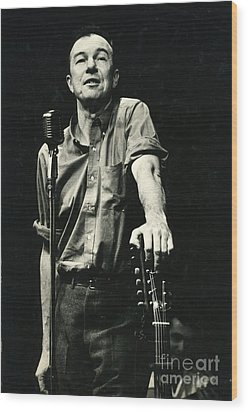 Pete Seeger Wood Print