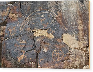 547p Petroglyph - Nine Mile Canyon Wood Print by NightVisions