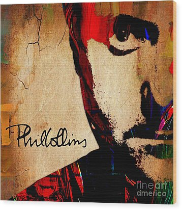 Phil Collins Collection Wood Print