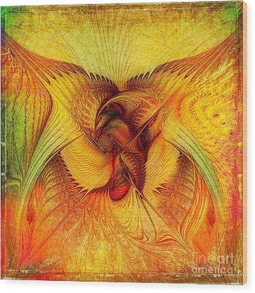 Phoenix Wood Print by Klara Acel