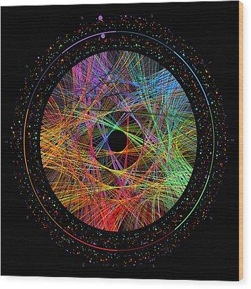 Pi Transition Paths Wood Print by Martin Krzywinski