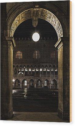 Piazza San Marco Wood Print by Marion Galt
