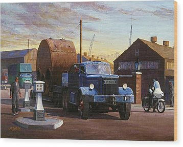 Pickfords Diamond T Wood Print by Mike  Jeffries