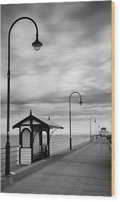 Pier Into The Past Wood Print by Shari Mattox