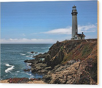 Pigeon Point Lighthouse Wood Print by Judy Vincent