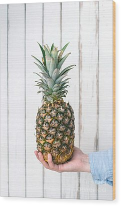 Pineapple Wood Print by Viktor Pravdica