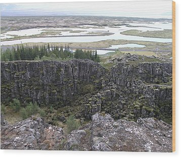 Pingvellir Wood Print by Christian Zesewitz