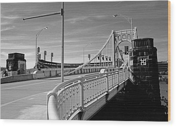 Pittsburgh - Roberto Clemente Bridge Wood Print