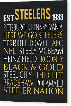 Pittsburgh Steelers Wood Print