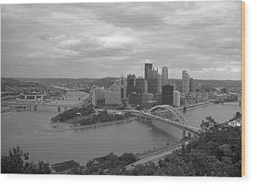Pittsburgh - View Of The Three Rivers Wood Print