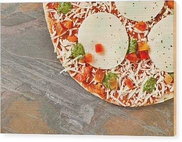 Pizza Wood Print by Tom Gowanlock