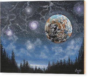 Planet X Niburu Wood Print by Jim Bowers