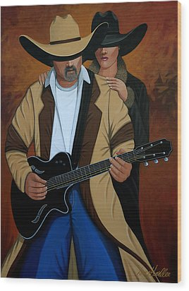 Play A Song For Me Wood Print by Lance Headlee